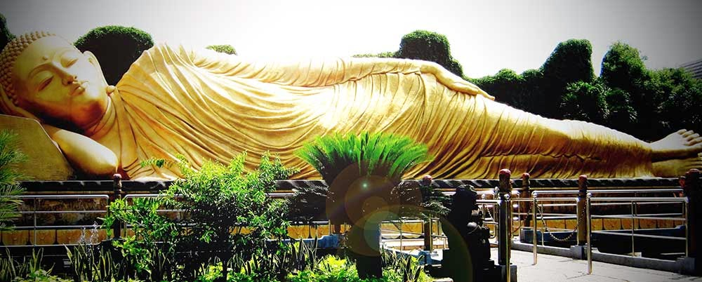 Sleeping Budha Statues In Mojokerto Indonesia