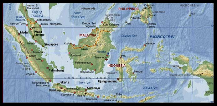 خريطة الإندونيسية